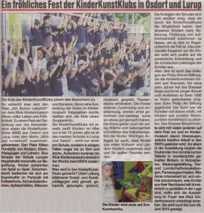 Aus: Osdorfer Kurier vom 16. Juni 2010