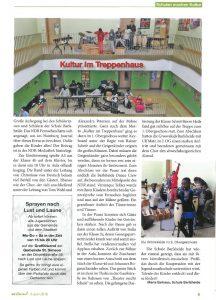 """Zeitungsartikel """"Kultur im Treppenhaus"""""""